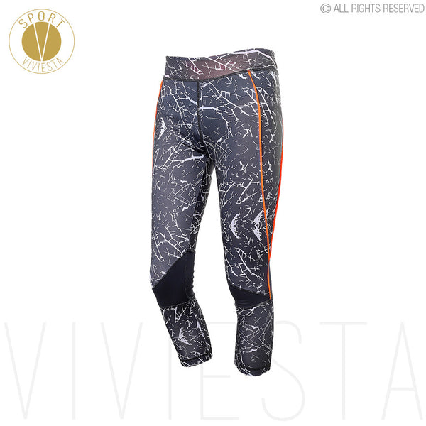 Stone Print Sports Capris - Yoga Gym Running Training Workout Brand Quality Elastic Fit 3/4 Leggings Tights Pants Crops