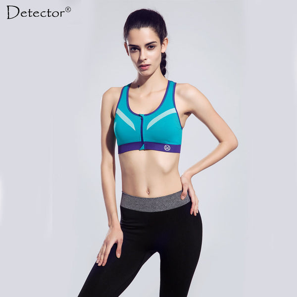 Detector Quick Drying Shock Absorption Professional Sports Yoga Bra Tank Top Vest Sport Fitness Yoga Seamless Running Vest shirt