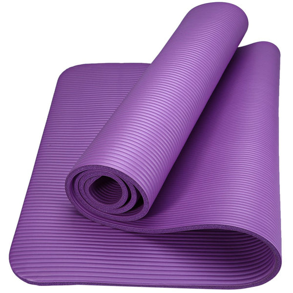 183 x 61 x 1cm NBR Yoga Mat 10mm Anti-skid Yoga Mat Nonslip Gym Pilate EVA Multifunctional Yoga Mat Fitness