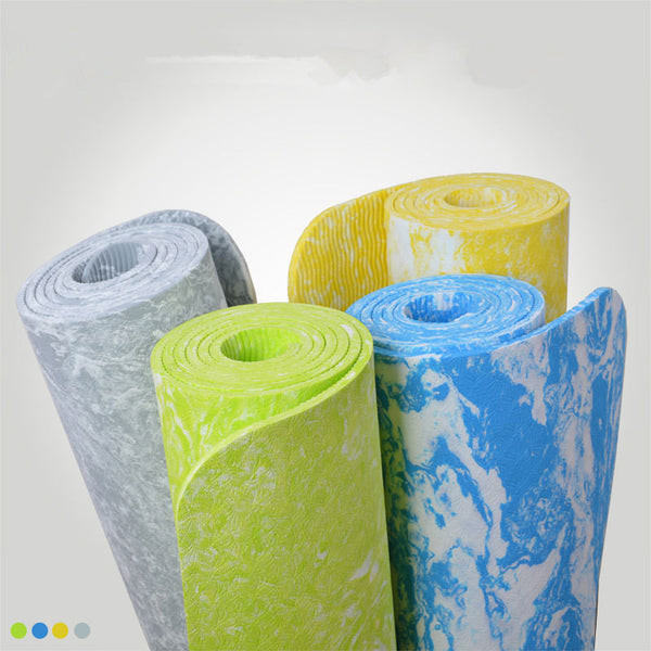 185cm*62cm Yoga Mat Beginner TPE Thick Mat Pad Leisure Camping Picnic Exercise Mat Fitness Yoga Gymnastics Mats Balance Cushion