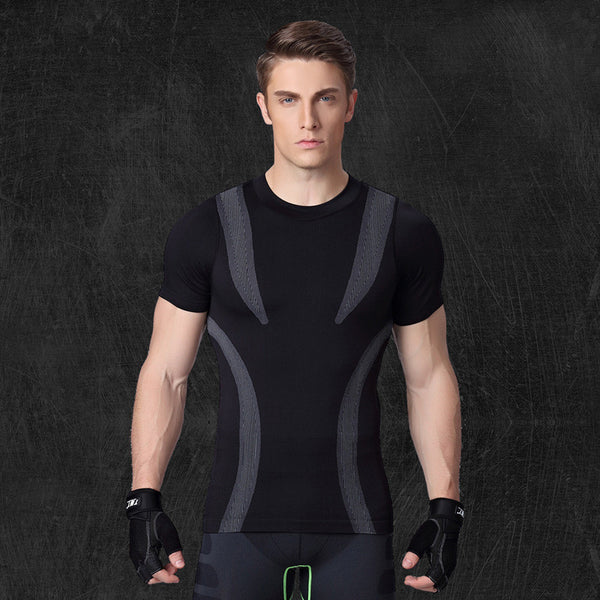 Men GYM Fast Drying Tee Sports Running Yoga Training Fitness Tops Compression Short Sleeve T-shirts Clothes T Shirts
