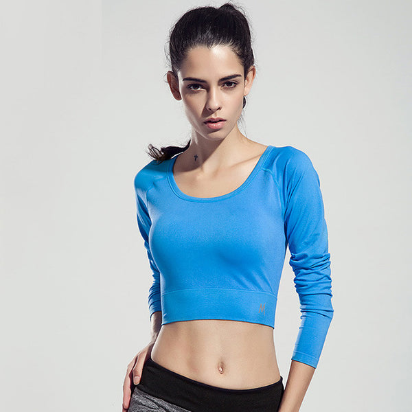 BINAND Fitness Gym Long Sleeve T shirt Compression Tights Sport T shirts Clothes Tees & Tops