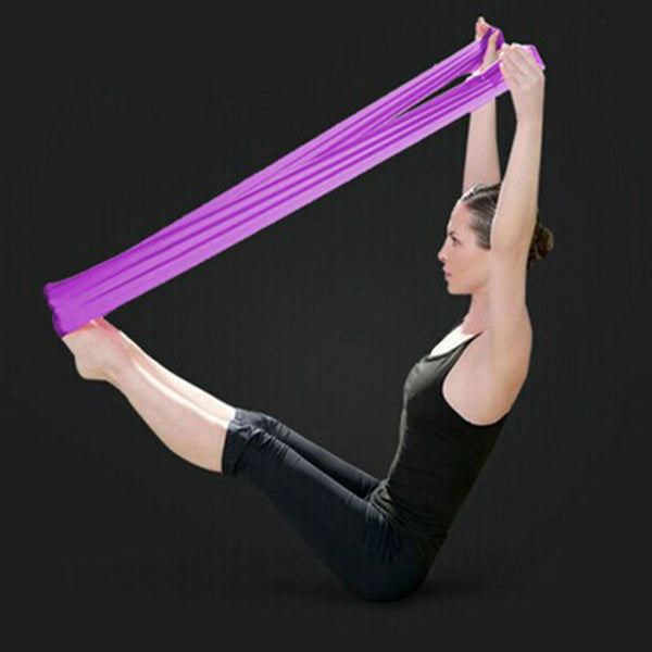 Natural Yoga belt tension resistance bands pilates equipment elastic fitness expander elastic belt stretch belt stretch belt