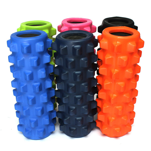 30x15cm EVA Grid Foam Massage Roller Yoga Pilates Fitness Physiotherapy Rehabilitation