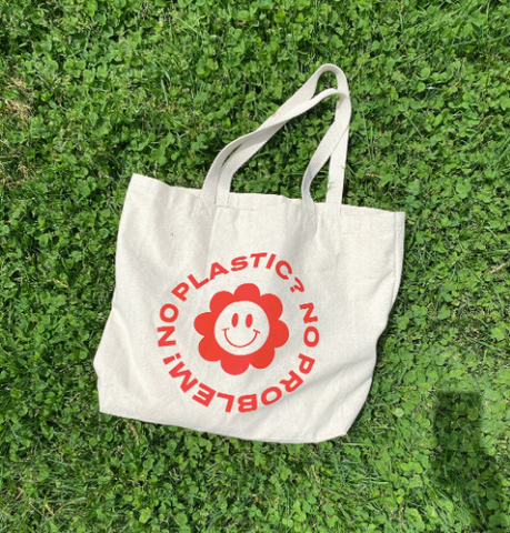 No Plastic? Canvas Tote Bag