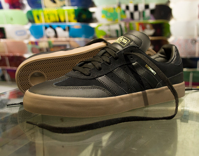 size 40 8987c abbed Adidas Busenitz Vulc RX Skate Shoes Black   Gum – Pure Board Shop