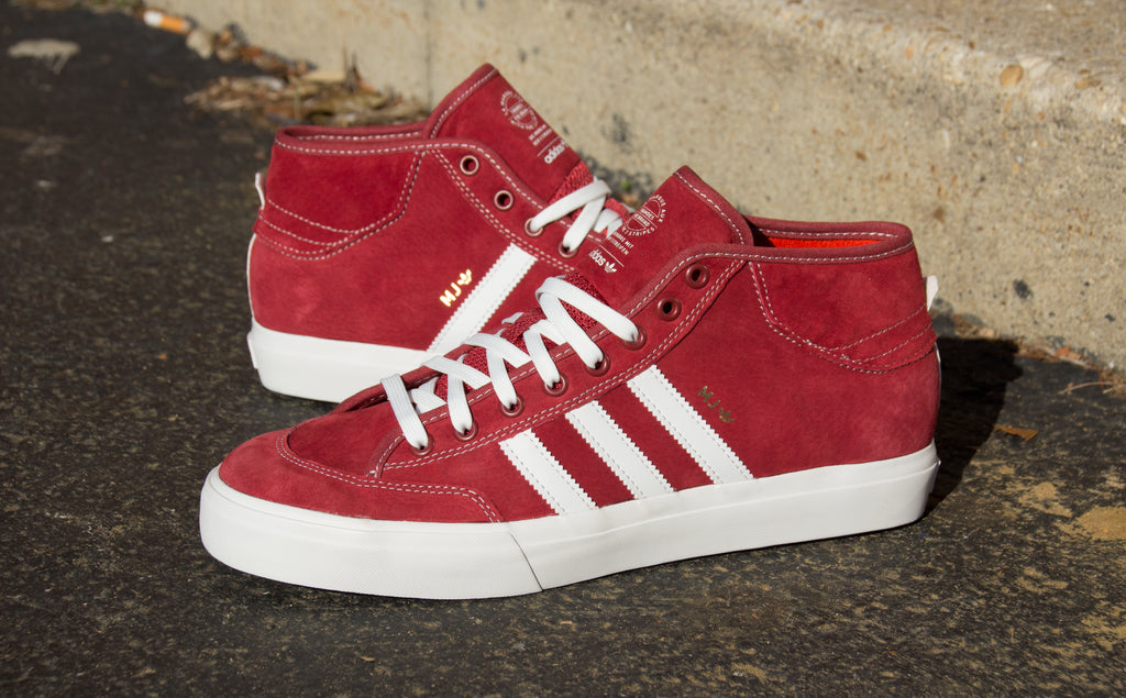 New Marc Johnson Adidas Matchcourt Mid Mystery Red – Pure Board Shop