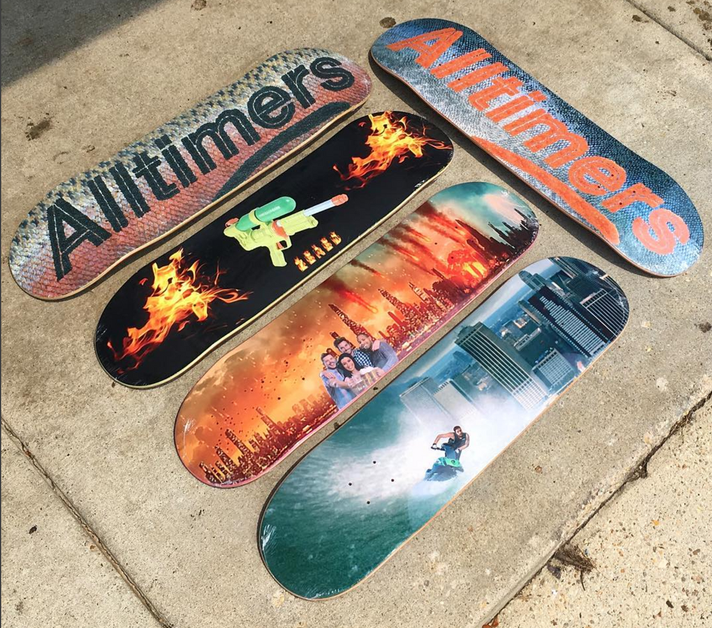 New Alltimers Skateboards and Clothing