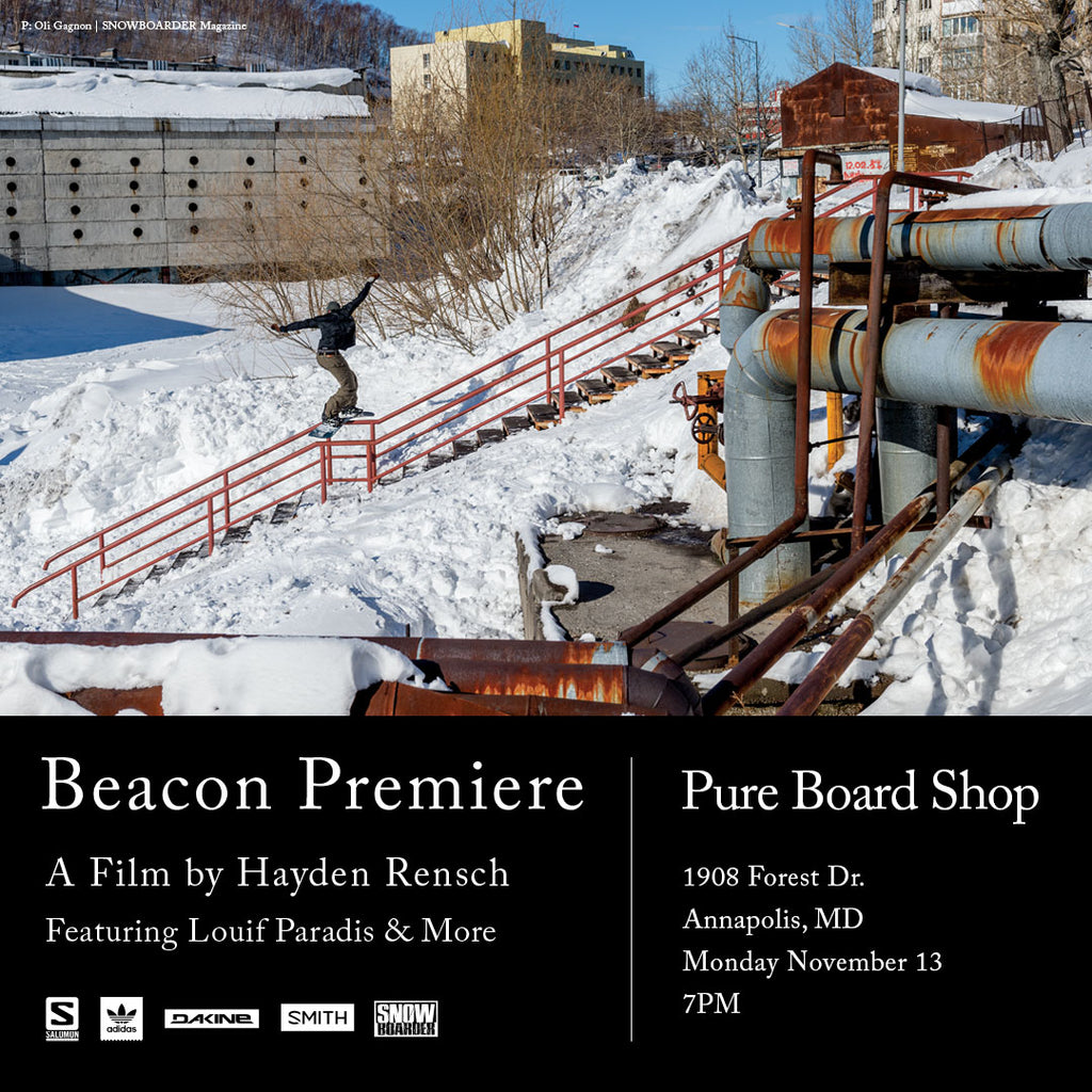 Beacon Video Premier at Pure Board Shop