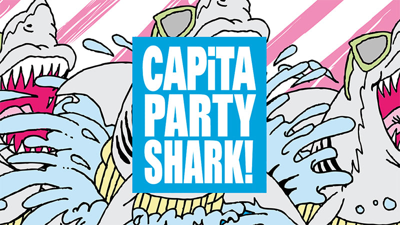 Limited Edition Capita Party Shark Snowboard is here!