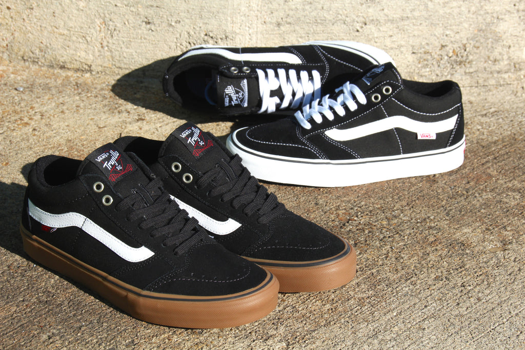 Vans TNT SG Pro Skate Shoes :: Black/White and Black/Gum Restock