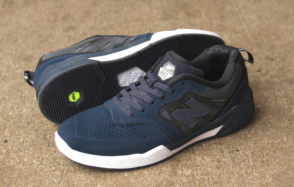 Obsidian/White NB# 868 Skate Shoes