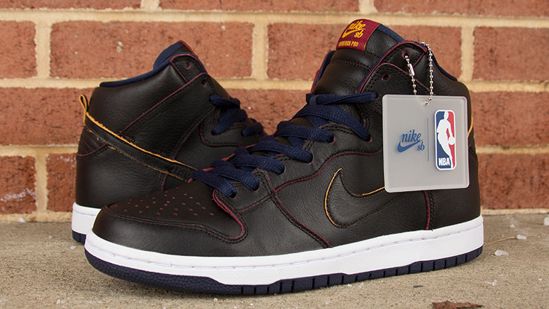 499ff345a329 NBA X Nike SB Dunk High Pro Cavs Now Available – Pure Board Shop