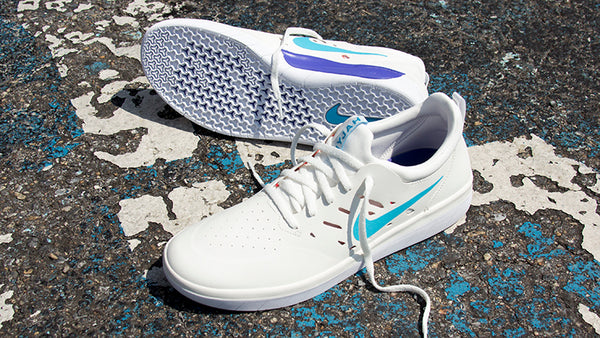 New Nike Sb Nyjah Free Skate Shoes in Summit White Available