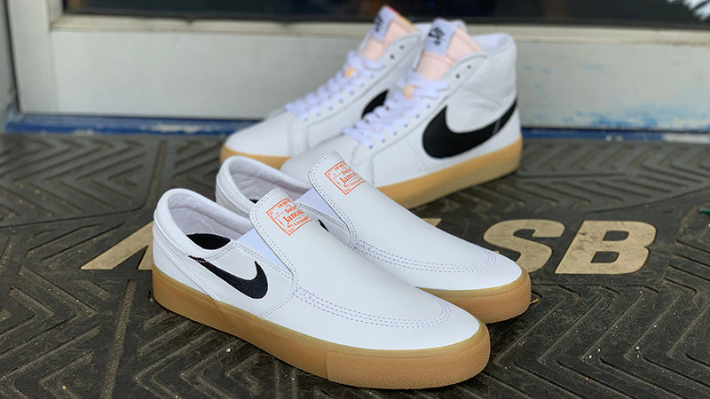 fbef7290ac Nike SB Orange Label White Leather Release Info – Pure Board Shop