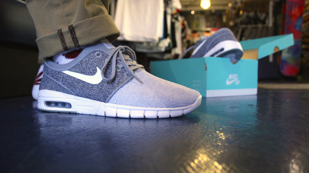 6177431b3c Wolf Grey Knit Janoski Max from Nike SB – Pure Board Shop