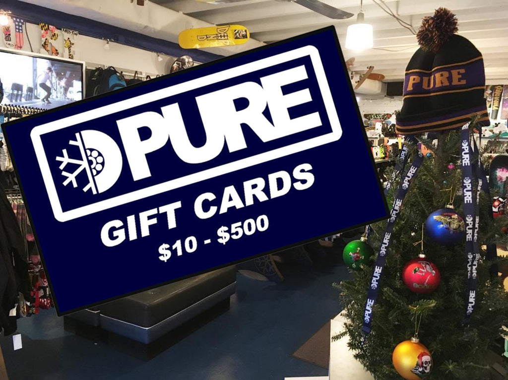 Pure In-store and Online Gift Cards Available