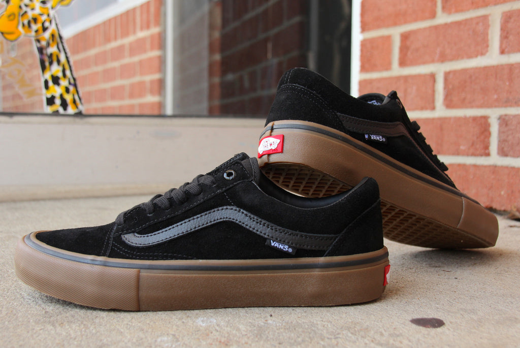 3f6dfed86a6 Black and Gum Vans Old Skool Pro Skate Shoes – Pure Board Shop