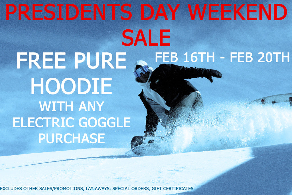 Free Pure Hoodie With Any Electric Goggle Purchase