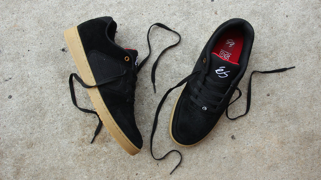 New Black and Gun eS Accel Slim Skate Shoe