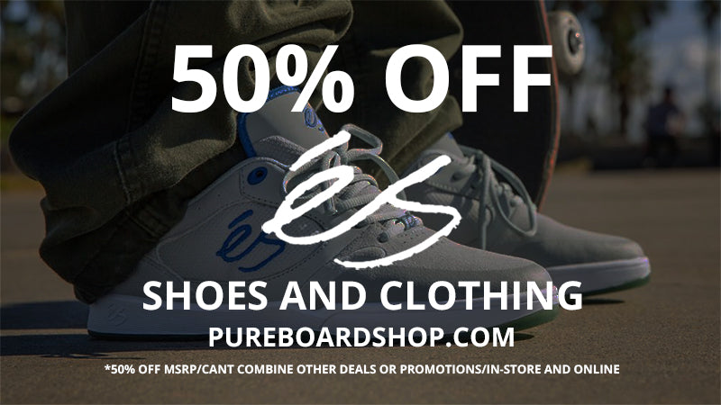 50% Off és Skate Shoes and Clothing All Weekend!