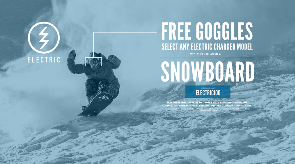 Free Goggles with Snowboard Purchase