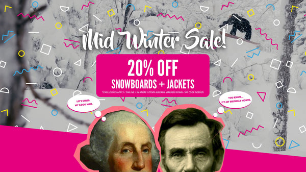 Mid Winter Snowboard and Jacket Sale!