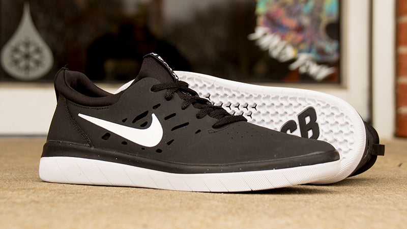 new concept bf2cc 64fb4 Nike SB Nyjah Huston Free Black   White Now Available