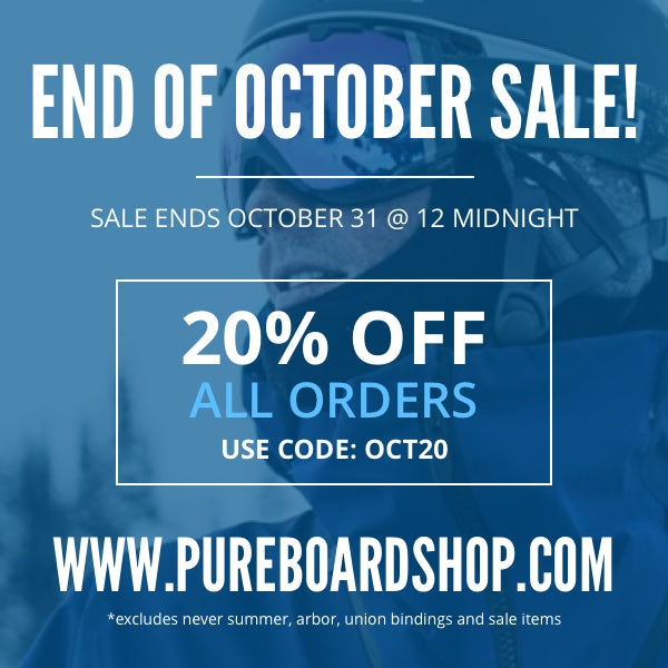 End October with 20% Your Entire Order!