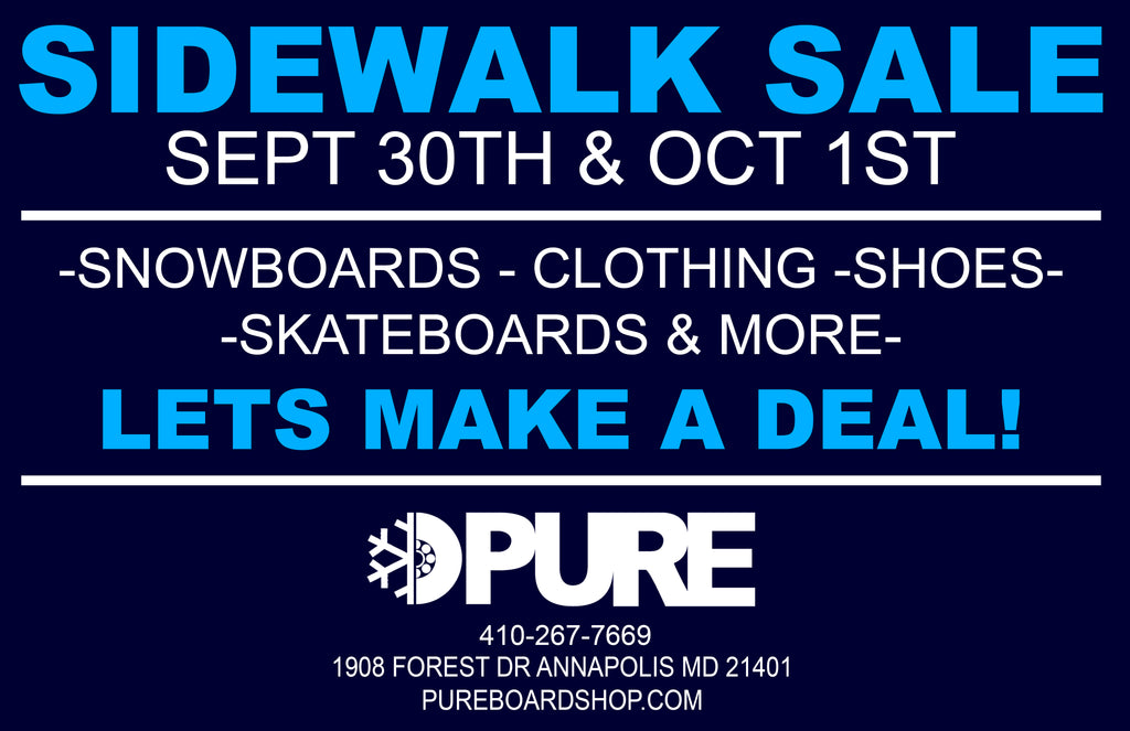 Sidewalk Sale at Pure Board Shop