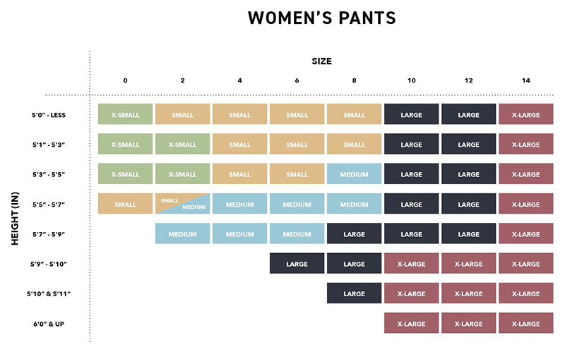 686 womens snowboard pants size guide pure board shop