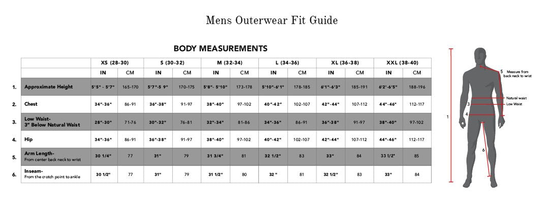 686 size chart pure board shop