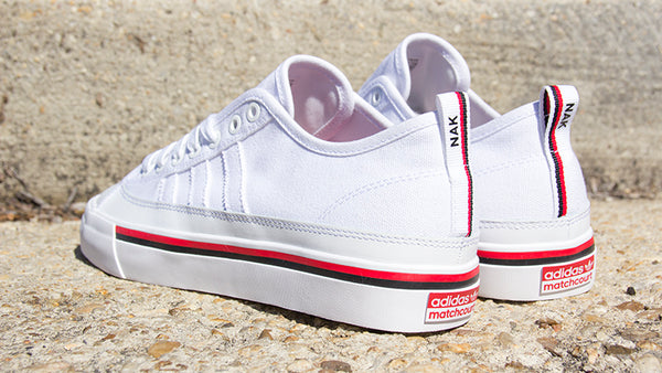 purchase cheap e5873 e4ac5 adidas matchcourt rx3 skate shoes Nakel Smith white core black scarlet red  CG5668 pure