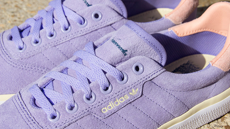 Adidas Nora 3MC Skate Shoes LIGHT PURPLE GLOW PINK MIST SUN EF2398 Nora Vasconcellos Pure Board Shop 1