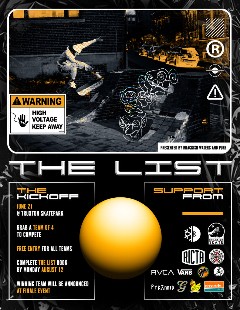 the list brackish waters pure board shop skateboard contest 2019 blog