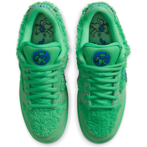 nike sb x grateful dead dunk low pro quick strike green pair pure board shop