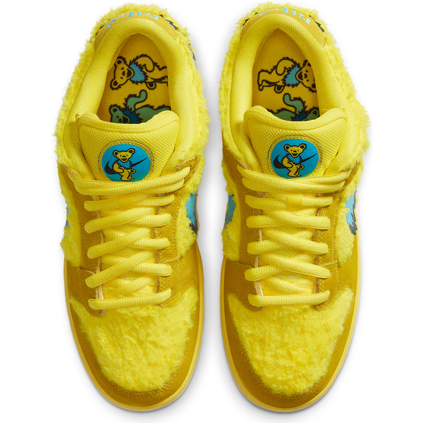 nike sb grateful dead dunk low quick strike yellow pair pure board shop