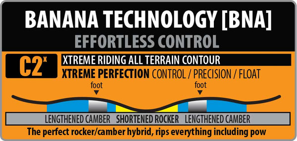 Lib Tech Orcha c2x rocker camber profile pure board shop