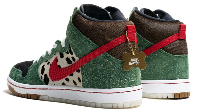 Nike SB 420 Dog Walkers Dunk High Pro Quick Strike Fir University Red Black White BQ6827 300 Pure Board Shop