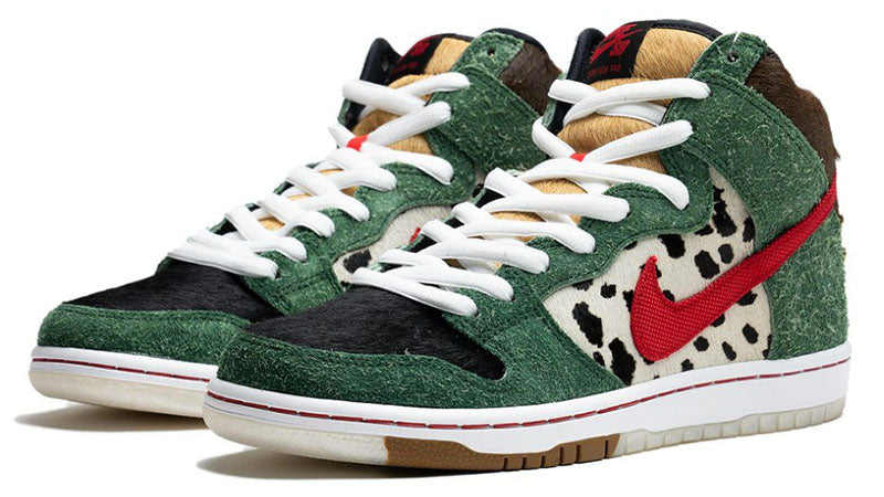 bd1ef16c Nike SB 420 Dog Walkers Dunk High Pro Quick Strike Fir University Red Black  White BQ6827