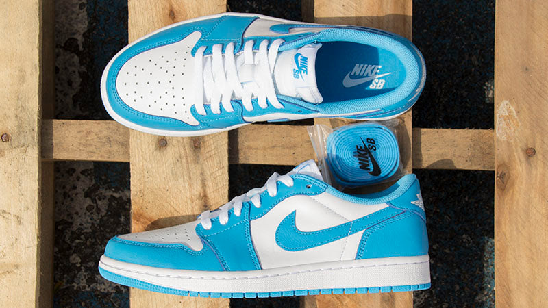 Nike SB Air Jordan 1 Low Quick Strike UNC Tar Heels Eric Koston DK Powder Blue DK Powder Blue CJ7891 401 Pure Board Shop blog
