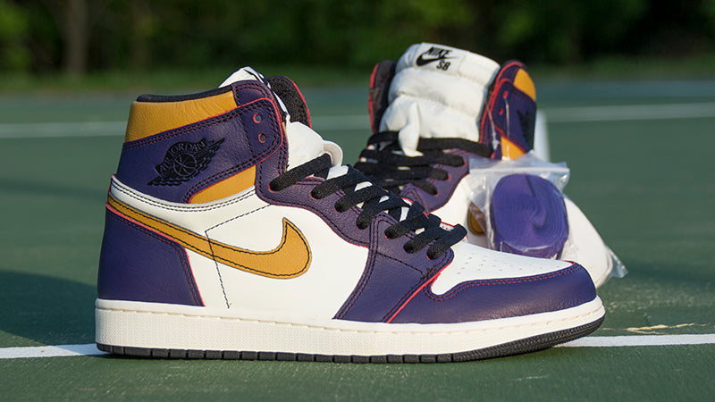 size 40 72a6b 41245 Nike SB Air Jordan 1 high OG Defiant LA to Chicago Quick Strike Court Purple  Black