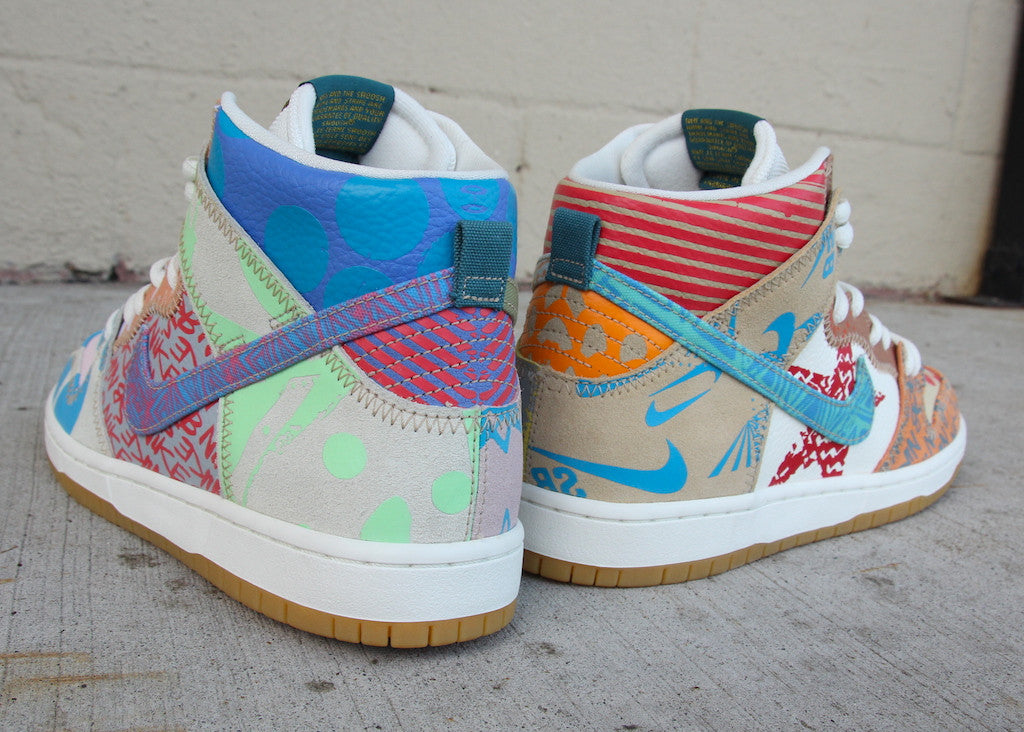 buy popular 2acfe 213ed ... best price nike sb dunk high premium thomas campbell what the dunk high  iced jade circuit