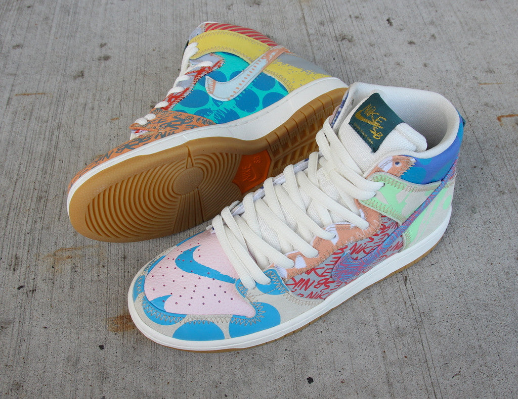 newest collection b7a29 47414 Nike SB Dunk High Premium Thomas Campbell What the Dunk High Iced Jade  Circuit Orange Sail