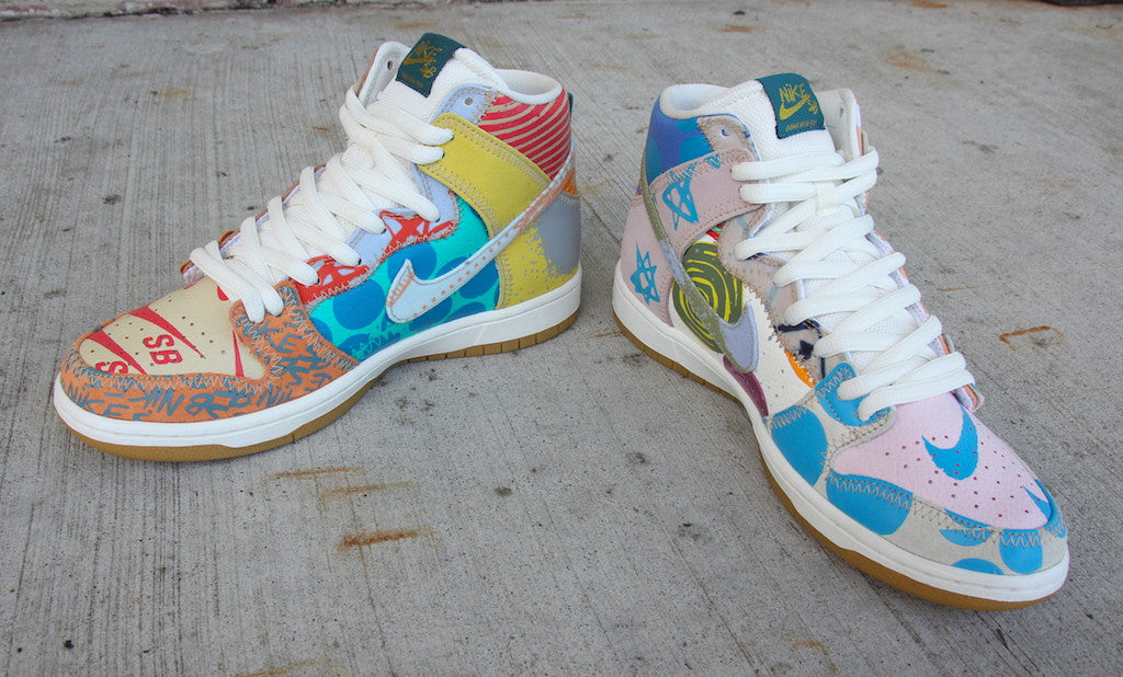 newest collection 774a5 783ff Nike SB Dunk High Premium Thomas Campbell What the Dunk High Iced Jade  Circuit Orange Sail