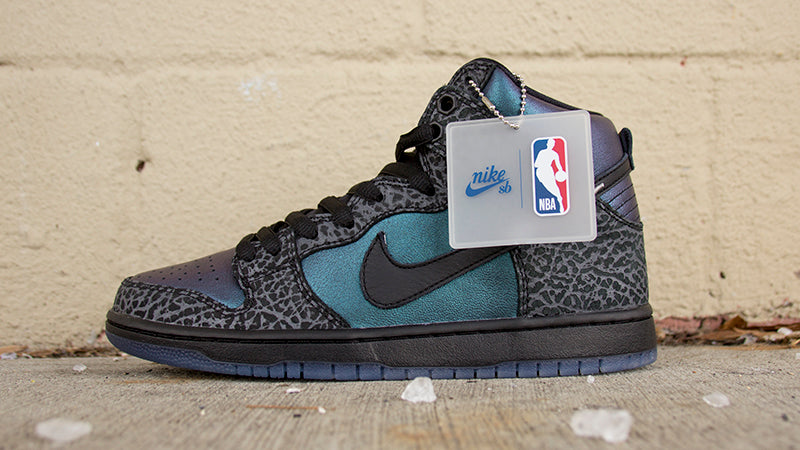 Nike SB Dunk High Pro Quik Strike Black Black Dary Grey BQ6827 001 Black Sheep NC Charlotte Hornets NBA All Stars pure board shop