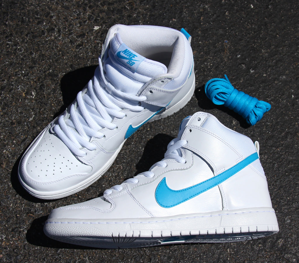 Nike SB Dunk High TRD Quickstrike Mulder White Orion Blue White White 881758 141 pure board shop