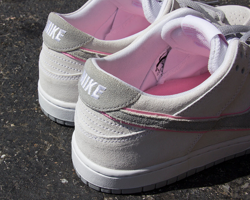 Nike SB Dunk Low Pro IW White/Perfect Pink-Flat Silver 895969-160 pure board shop