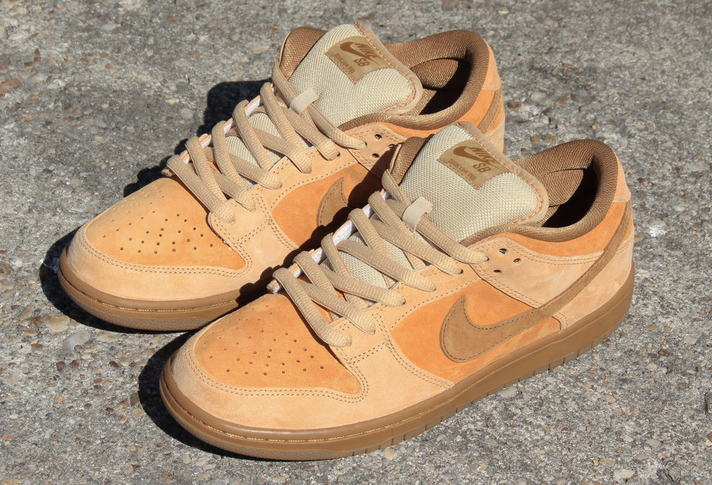 Nike SB Dunk Low Tradional Quick Strike Reverse Forbes Wheat Dune-Twig-Wheat-Gum Medium Brown 883232-700 pure board shop