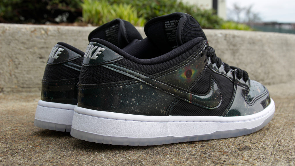 nike sb dunk low traditional quick strike galaxy space jam black/black-white 883232-001 pure board shop